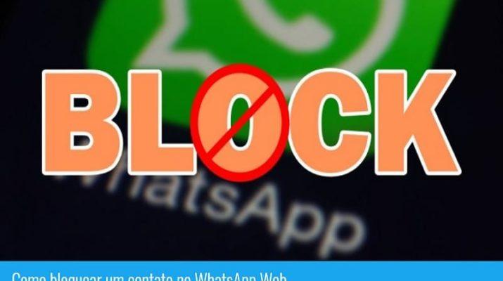 como bloquear um contato no whatsapp web